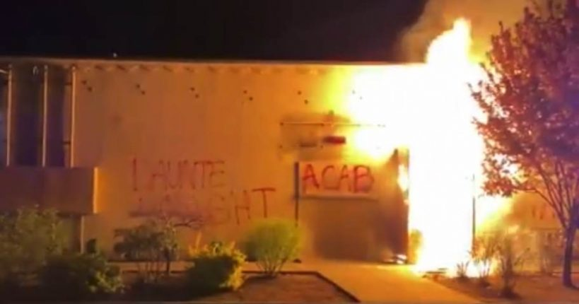 far-left-terrorists-light-portland-police-union-building-on-fire