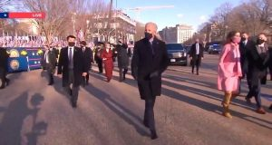 Feeble Biden Hobbles Over to the White House After Swearing-In Ceremony (VIDEO)