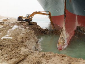 Suez Canal blocked by massive ship brings billions in trade to a standstill