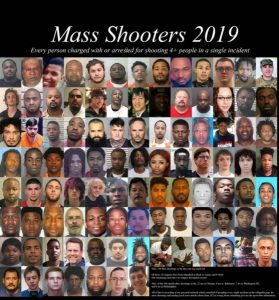 Photo Collage Reveals Who Commits the Mass Shootings in the US Today