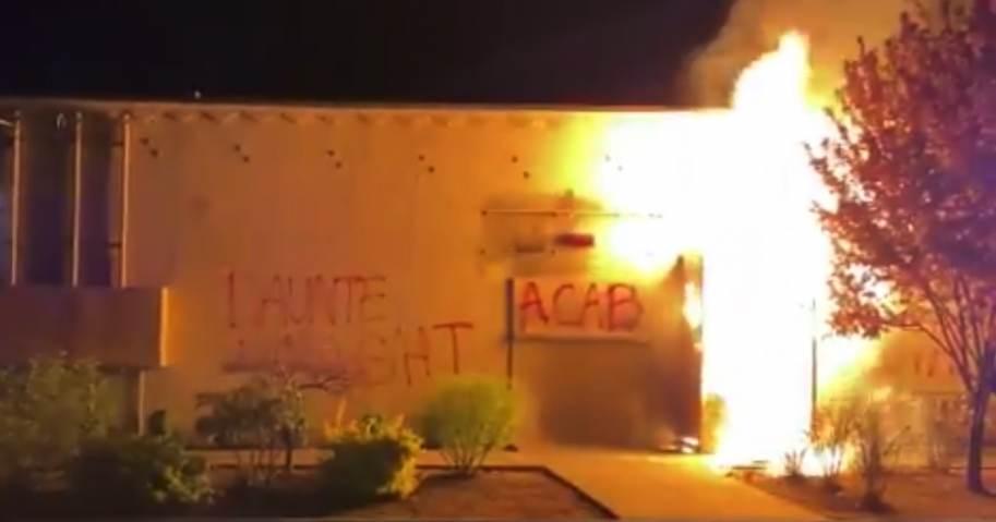 far-left-terrorists-light-portland-police-union-building-on-fire