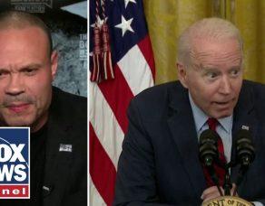 Dan Bongino reacts to Biden's 'creepy' whispering news conference