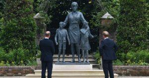 Princes William and Harry Unveil the Princess Diana Statue